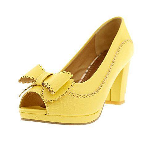 Mee Shoes Damen süß modern bequem Peep toe mit Schleife B…