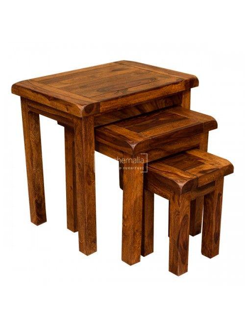 Samri Sheesham Nest Of Tables Sheesham Furniture Sheesham Wood Furniture Sheesham