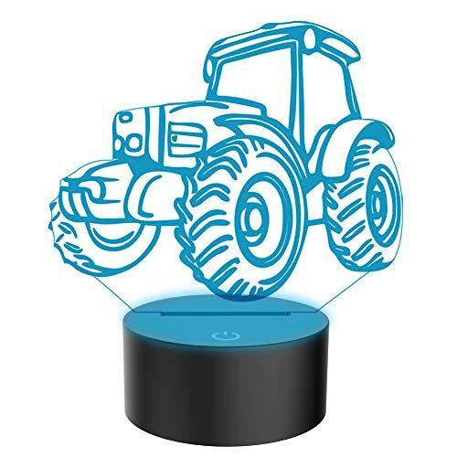 3d Illusion Lampe Traktor Led Nachtlicht Usb Stromversor Nachtlicht Led Lampe