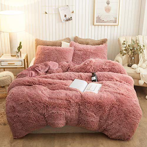 Xege Plush Shaggy Duvet Cover Set Luxury Ultra Soft Cryst Https Www Amazon Com Dp B07zb2r86t Ref Cm Sw R Fluffy Blankets Velvet Bedding Sets Bedding Sets