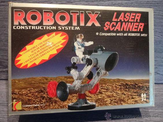 ROBOTICS CONSTRUCTION SYSTEM. LASER SCANNER. 1997. CAJA CON PIEZAS VARIAS