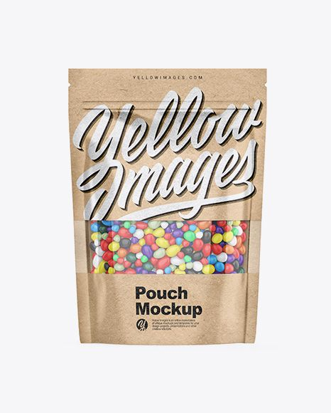 Download Kraft Stand Up Pouch With Candies Mockup Front View In Pouch Mockups On Yellow Images Object Mockups Mockup Free Psd Free Psd Mockups Templates Psd Mockup Template