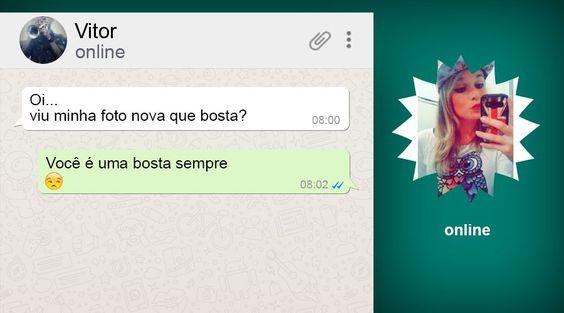 Vitor tomou patada sua, Bubu...