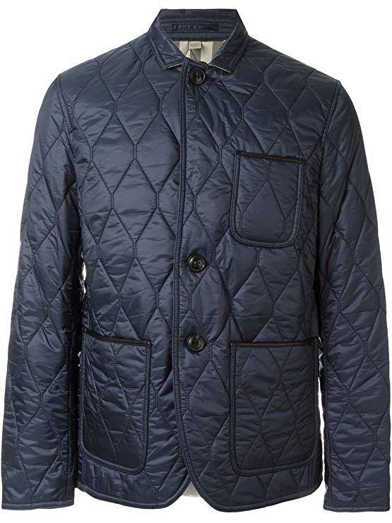 Burberry Men S Gillington Blue Quilted Jacket Jackets Quilted Jacket Burberry Men