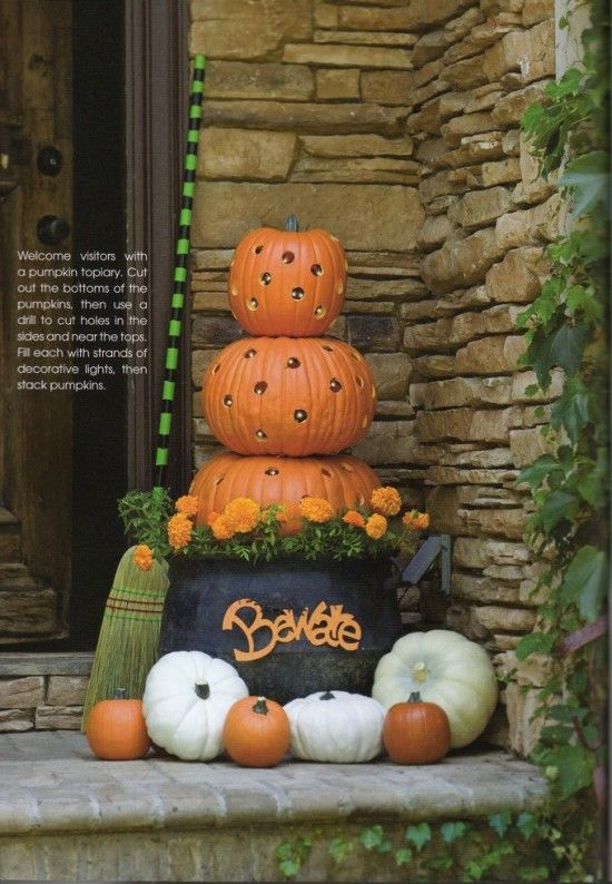 Stacked Pumpkins! Can't wait for fall!