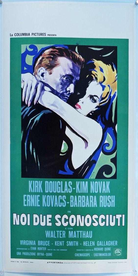 """Strangers When we Meet"", Italy Locandina (13x28in). Original Vintage Movie Poster"