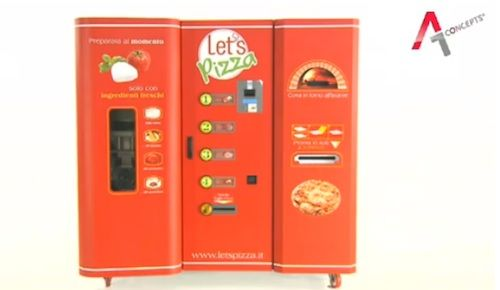 Nowhere to hide from the decadence! Pizza vending machines coming soon! via @designtaxi