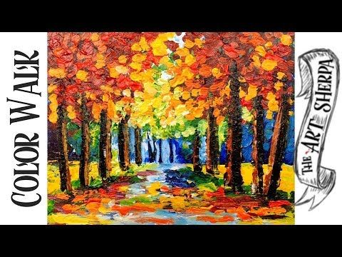 Color Walk Forest Easy Acrylic Painting Techniques Step By Step