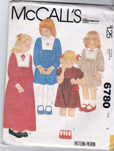 McCalls-6780-1979-Sweet-Childs-Dress-Size-4-FF