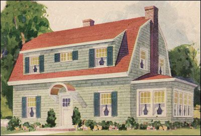 1930 Montgomery Ward Dutch Colonial - I'm pretty sure this is exactly the house we have minus the side porch