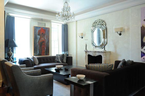 Elegant Transitional Living & Family Room by Aline Matsika on HomePortfolio
