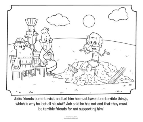 Job's Friends Visit - Bible Coloring Pages | What's in the ...