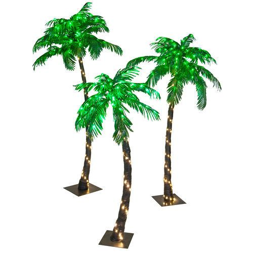 5 Foot Tropical Led Palm Tree Long Lasting Led Lights Save On Energy By Up To 90 Commercial Grade Construct Palm Tree Christmas Lights Palm Tree Lights Canopy