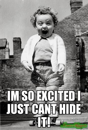 This is us today!!!!!! Love getting great news!!!!!!! :) Eeek