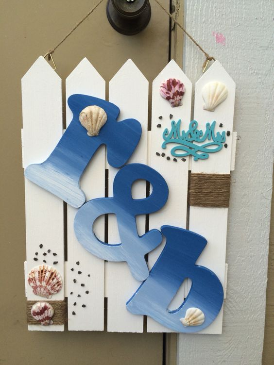 DIY wall art beach theme  Mr. and Mrs. Rafael and Brittany Gurion  Wedding gift for them  #love  #beach #underthesea #gift #diy
