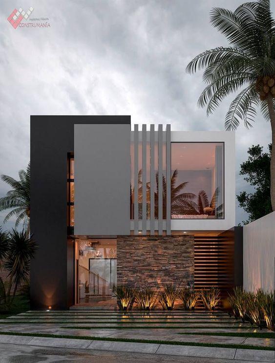 20 Gorgeous Modern Minimalist House Exterior Design Ideas Dream House Exterior Modern Minimalist House Minimalist House Design