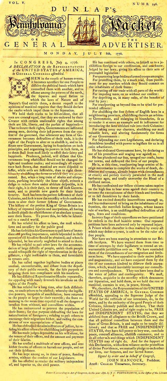 july 4 1776 slavery