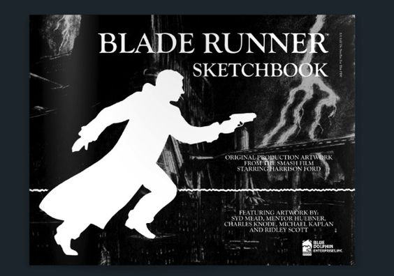 The long out-of-print Blade Runner Sketchbook (1982) of beautiful production drawings is available for purchase for around $300 or free viewing here. http://boingboing.net/2014/07/08/blade-runner-production-drawin.html
