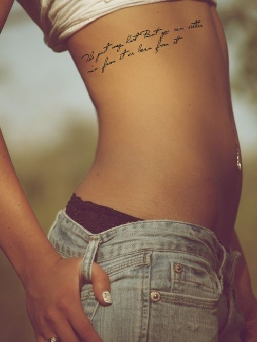 tattoos for girls on the ribs - Google Search