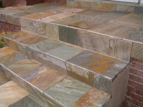 How to tile over concrete steps gardening great for Cleaning concrete steps