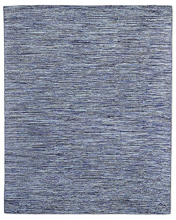 Striated Flatweave Rug - Blue