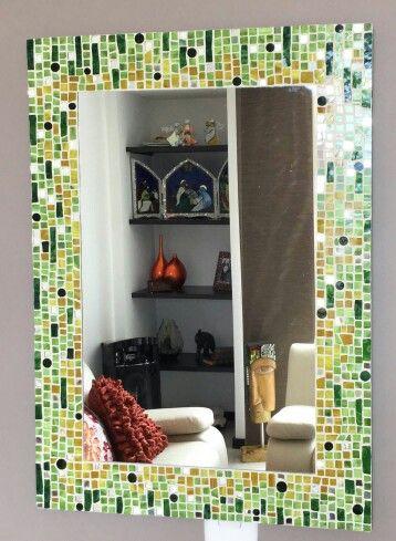 Espejo en vitromosaico espejos en mosaico pinterest - Espejos de ceramica ...