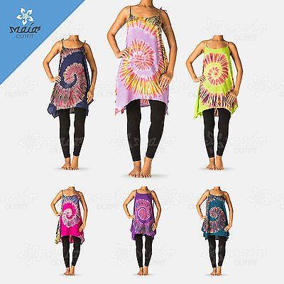 Maia New Women Tie Dye Sexy Summer Beachwear Boho Sleeveless Long Maxi Dress US