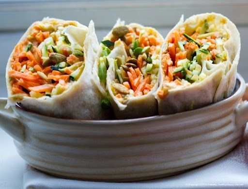 Raw Veggie Wraps.  Perfect For Lunch.