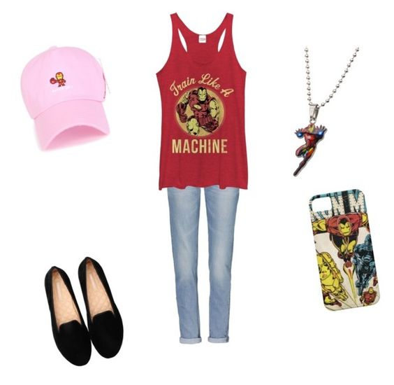"""team Iron Man (female)"" by asteve1998 ❤ liked on Polyvore featuring Fifth Sun"