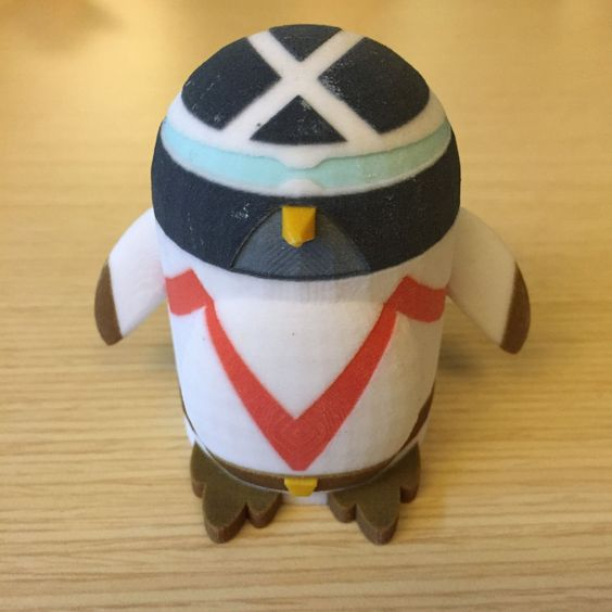 Peter the Penguin as Racer X from Speed Racer - 3D Printed model from Tinkercad