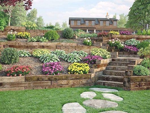 Sidewalk Landscaping Landscape In Acrylic Landscaping Fife Landscaping Backyard Hill Landscaping Landscaping Retaining Walls Sloped Backyard Landscaping