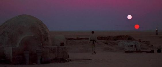 star wars - sunset on tatooine
