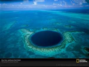 Belize (blue hole barrier reef)- on the bucket list to scuba dive the blue hole