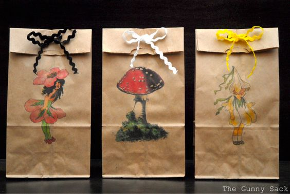 Print on paper bags - love this gift idea!!