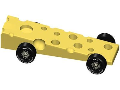 Yes, this one is cut, but you could just leave the block intact - pinewood derby template