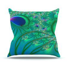 Fractal Outdoor Throw Pillow