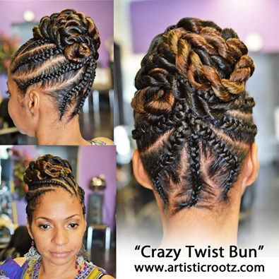 Super Cute Updo Twisted Bun And Twists On Pinterest Hairstyles For Men Maxibearus