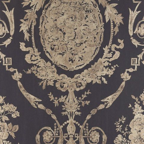 Abbeywood Damask - Gilded Ebony - Damasks - Wallcovering - Products - Ralph Lauren Home - RalphLaurenHome.com   Parlor?