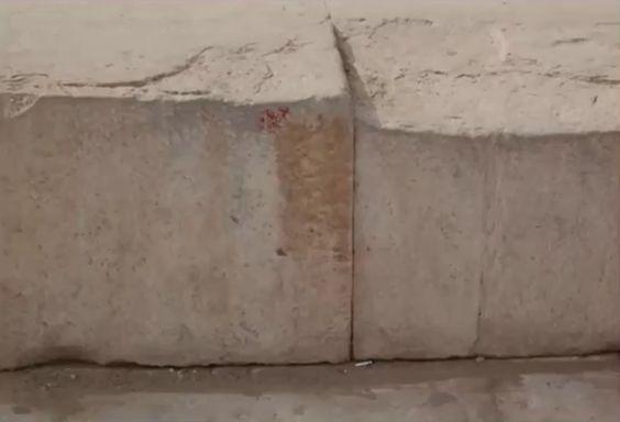 Detalle de la plataforma de la Gran Piramide