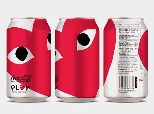 Coca-Cola x PLAY COMME des GARCONS, by design student Ashley Shen