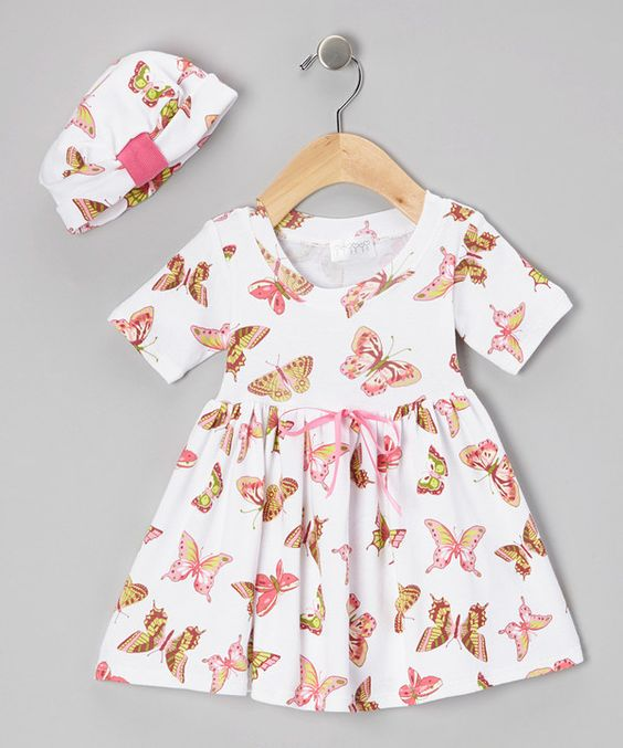 Take a look at this Butterfly Baby Organic Dolly Dress & Beanie - Infant & Toddler on zulily today!