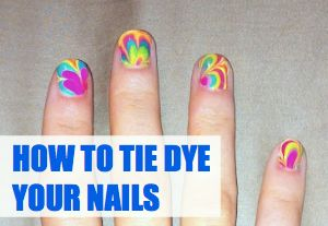 How to tie dye your nails! @C.R.A.F.T.