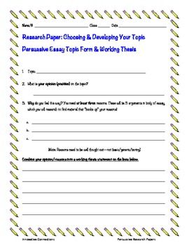 how to write a thesis statement for an essay middle school