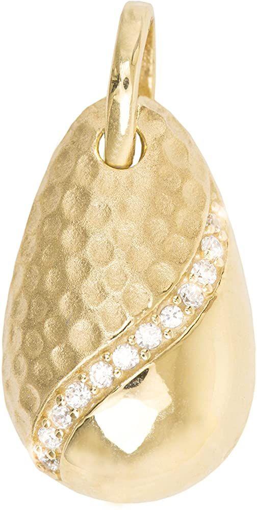 Anhänger Herz 333 8 kt Gelbgold mit Zirkonia  mit massiver Goldkette