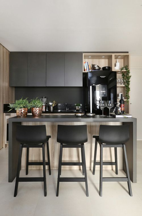 Decoração moderna da cozinha. | Modern kitchen decor.:
