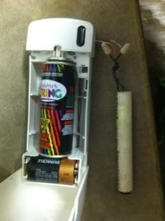 how to turn an automatic air freshener dispenser into a silly string launcher hacks best air freshener for office