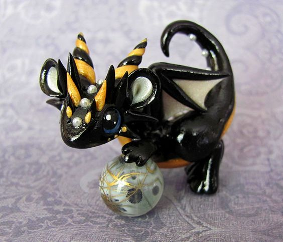 Black and Gold Baby Dragon by DragonsAndBeasties on deviantART