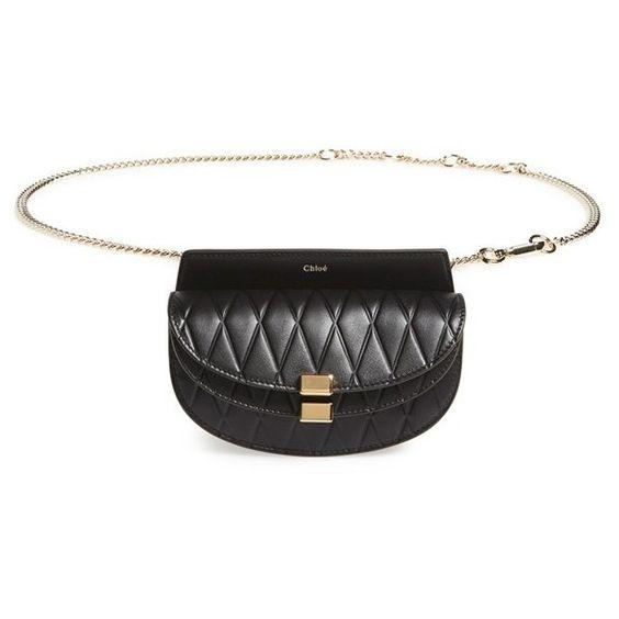 fake chloe purses - Chloe 'Nano Georgia' Embossed Calfskin Leather Fanny Pack ($1,090 ...