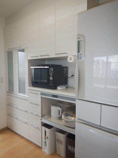 リクシル アレスタの収納ユニットを上手に選んでキッチンのカップボード 背面収納 完成 アレスタ カップボード 食器棚 収納 アイデア