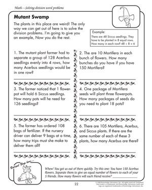 Fourth Grade Math Word Problems Worksheets - Delibertad